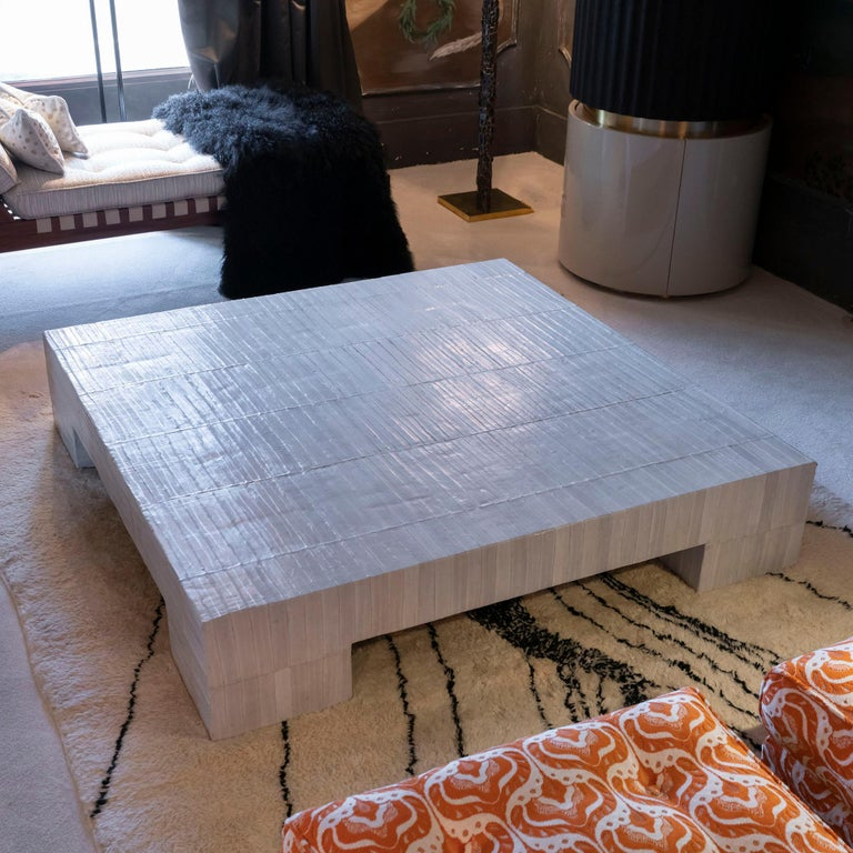 Flair Edition Ivory Eel Skin Coffee Table, Italy, 2020 2