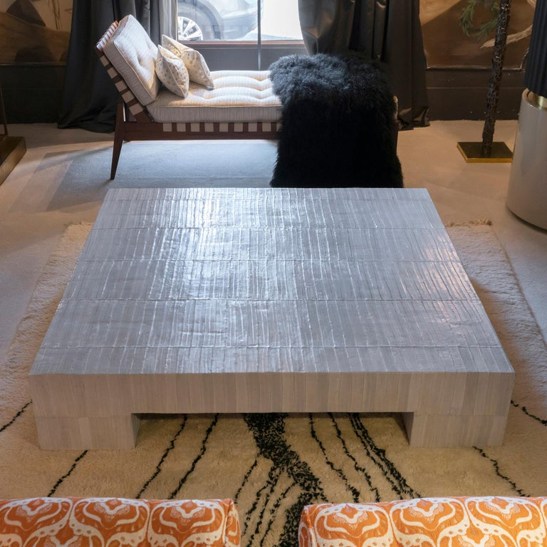Flair Edition Ivory Eel Skin Coffee Table, Italy, 2020 3
