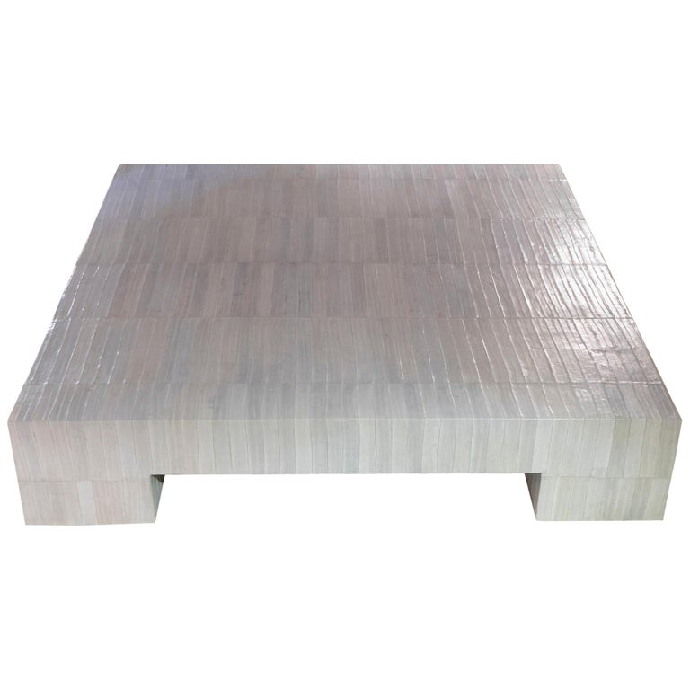 Flair Edition Ivory Eel Skin Coffee Table, Italy, 2020