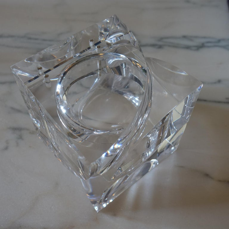 Plexiglass Flair Edition Small Decorative Box in Clear Lucite, Italy, 2021 For Sale