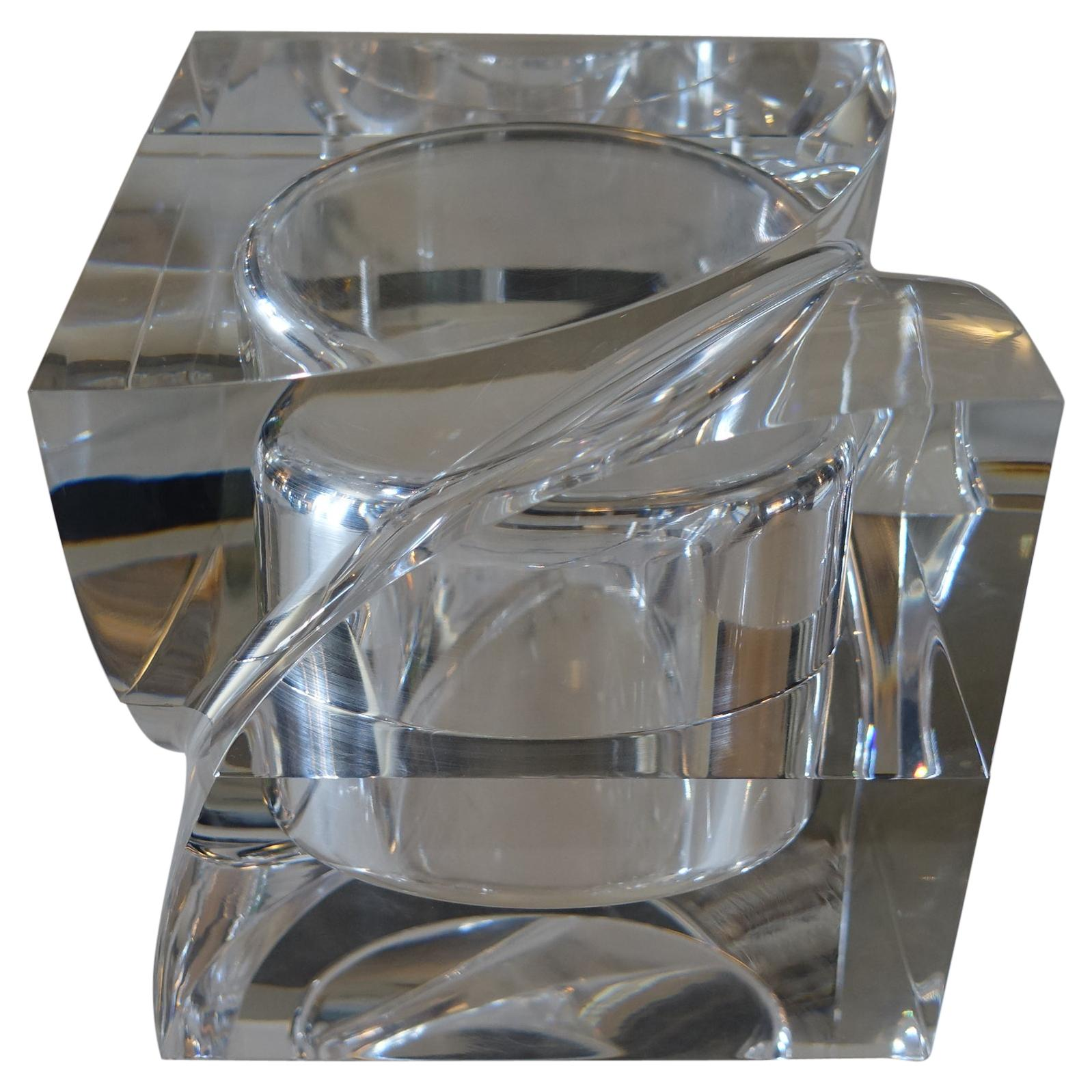 Flair Edition Small Decorative Box in Clear Lucite, Italy, 2021