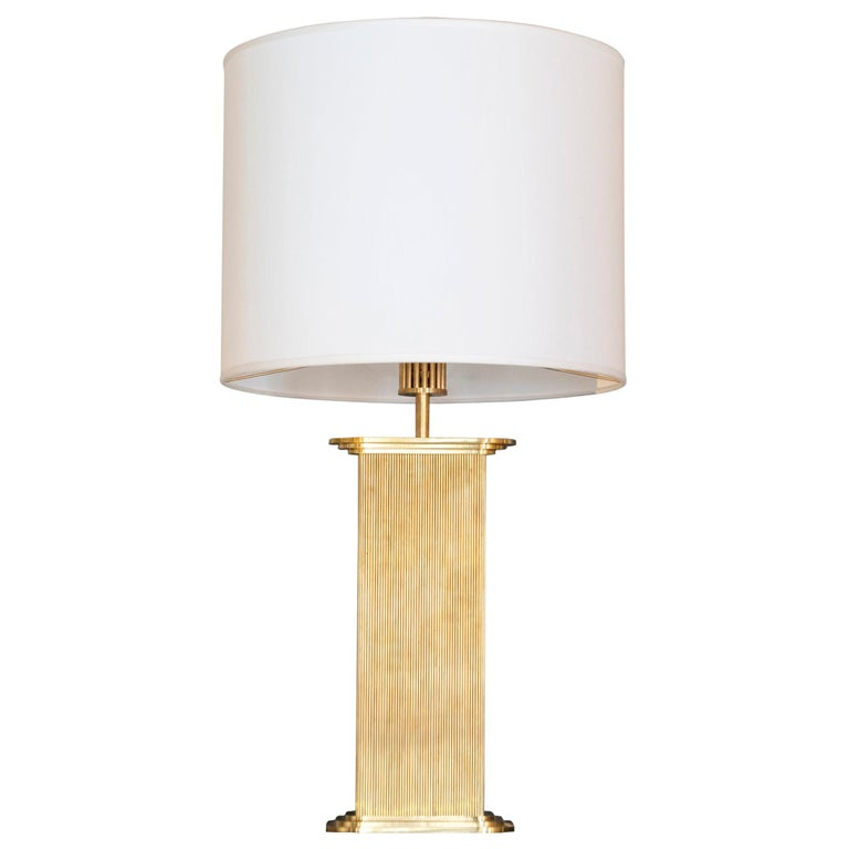 """Flair Edition """"Wire"""" Natural Brass Table Lamp, Italy, 2020"""