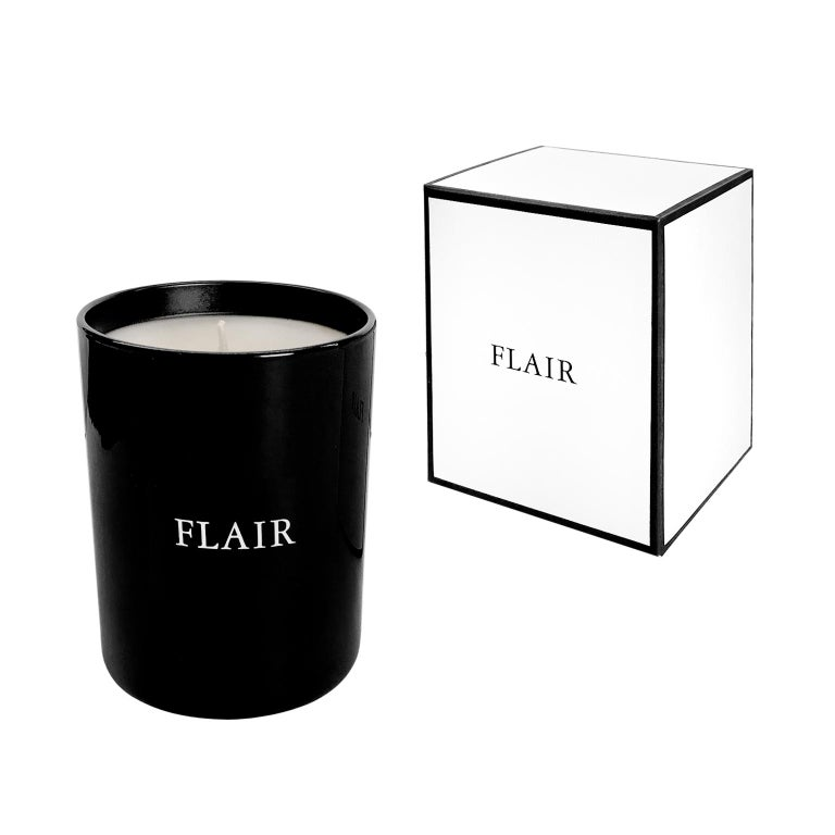 FLAIR Home Collection Candle in Dark Amber For Sale