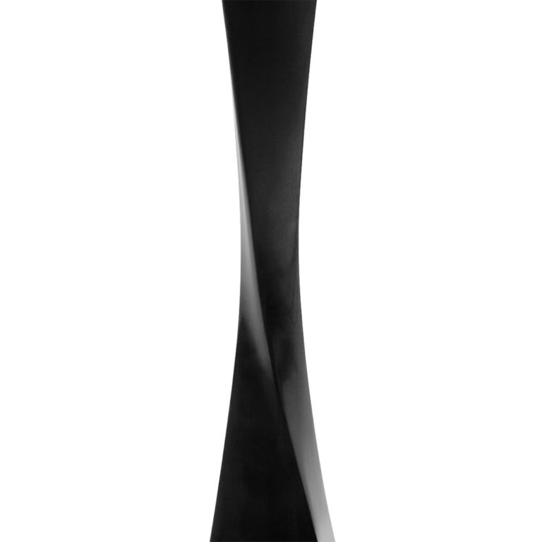 Lacquered Flambeau Table Lamp For Sale