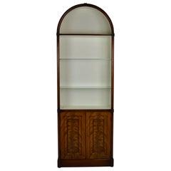 Flame Mahogany Arch Top Cabinet / Bookshelf