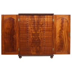 Flame Mahogany Collector's Cabinet