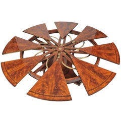 Flame Mahogany Extending Circular Dining Table