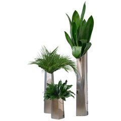Flamed Gold Parova Vase 3 Set Stainless Steel by Zieta