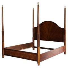 Flamed Hardwood Thomasville Super King Size Four Posted Bed Frame Adustable Post