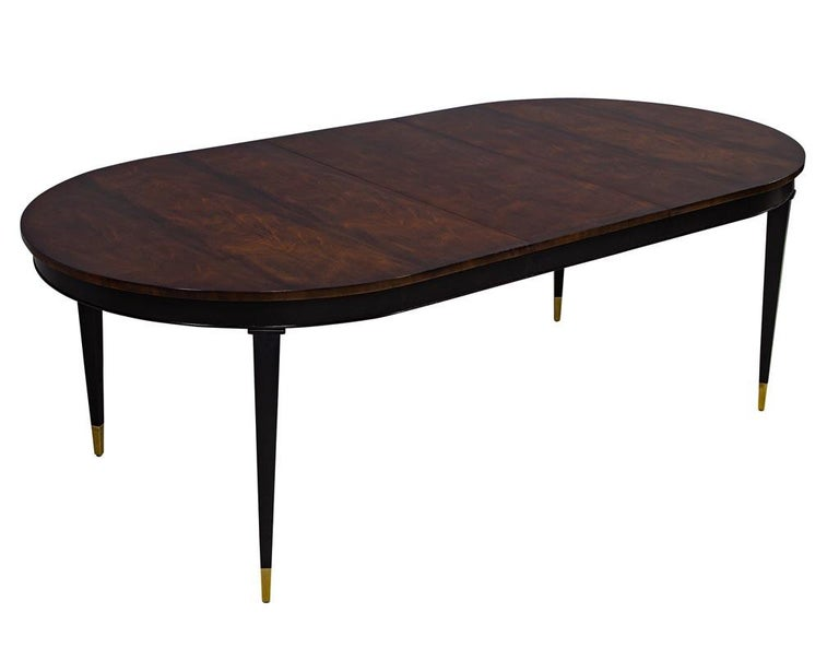 Contemporary Flamed Mahogany Dining Table Hepplewhite Inspired For Sale