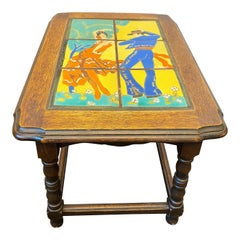Flamenco Dancers Tile Table by Taylor Tilery