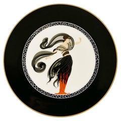Flames D'Amour Plate, Erté, 1985