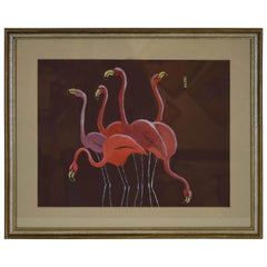 Flamingo Art by Texas Artist