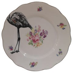 Flamingo couple dish plate