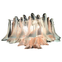 """Flamingo"" Italian Chandelier Ceiling Light, Murano, 1990"