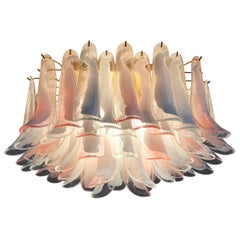 'Flamingo' Italian Chandelier Ceiling Light, Murano