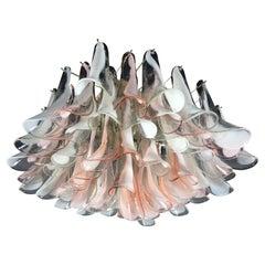 'Flamingo' Italian Chandelier Ceiling Light, Murano