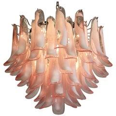 'Flamingo' Italian Petal Chandeliers, Murano