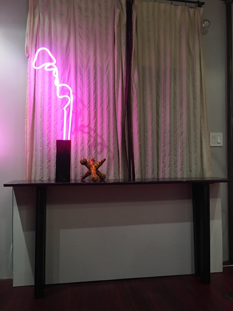 Flamingo Neon Lamp In Hot Pink And Ruby Red Neon Glass