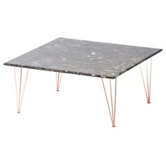 Flamingo Square Coffee Table with Copper Legs