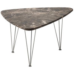 Flamingo Triangular Coffee Table with Black Legs