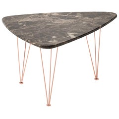Flamingo Triangular Coffee Table with Copper Legs