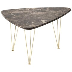 Flamingo Triangular Coffee Table with Gold Legs