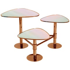 Flank Table, Modern Art Deco Center Table, Coffee Table, Mirror Table Top