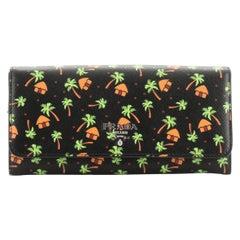 Flap Wallet Printed Saffiano Long