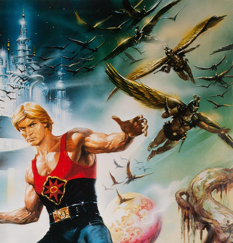 Flash Gordon 1981 Japanese RARE LARGE B1 Film Poster, Casaro In Excellent Condition For Sale In Bath, Somerset