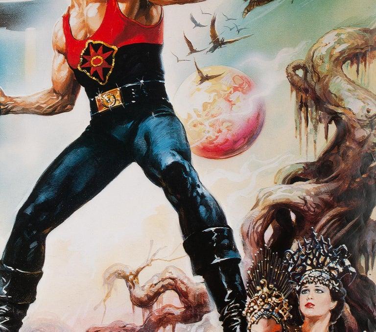 Paper Flash Gordon 1981 Japanese RARE LARGE B1 Film Poster, Casaro For Sale
