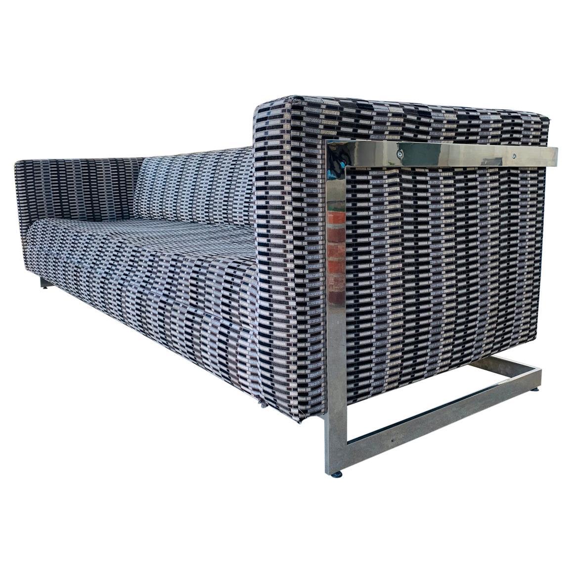 Flat Bar Sofa by Milo Baughman for Thayer Coggin