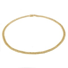 Flat Curb Link Chain Necklace