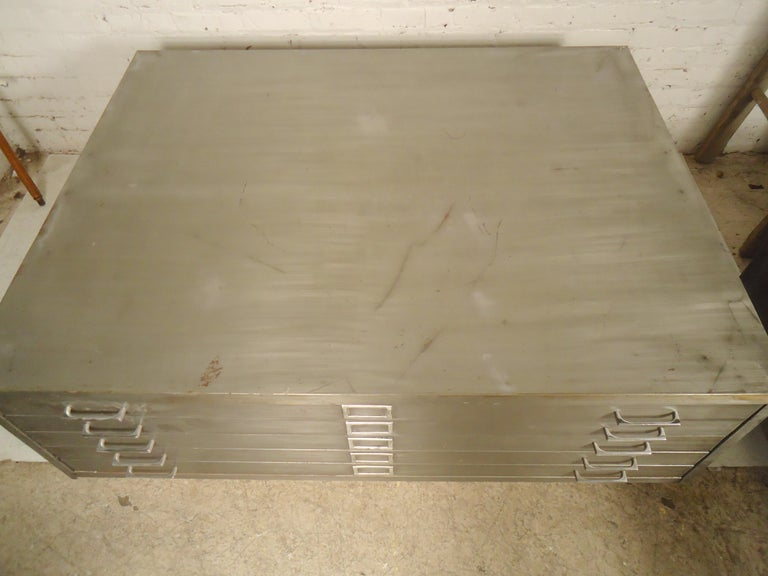 Industrial Flat File Coffee Table For Sale