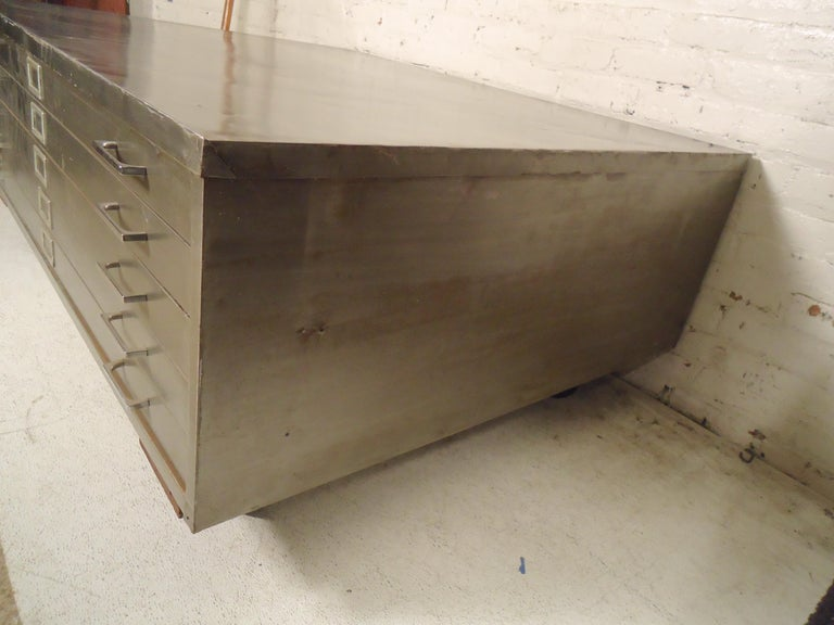 Flat File Coffee Table In Good Condition For Sale In Brooklyn, NY