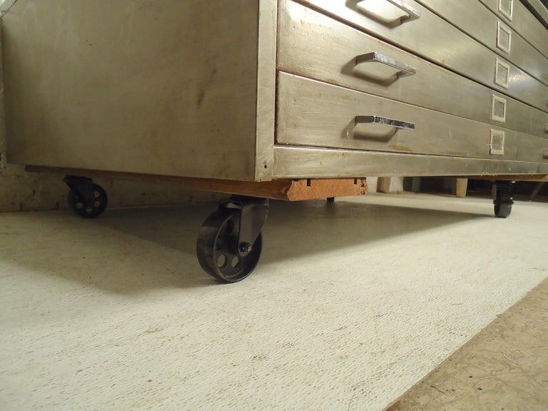 20th Century Flat File Coffee Table For Sale