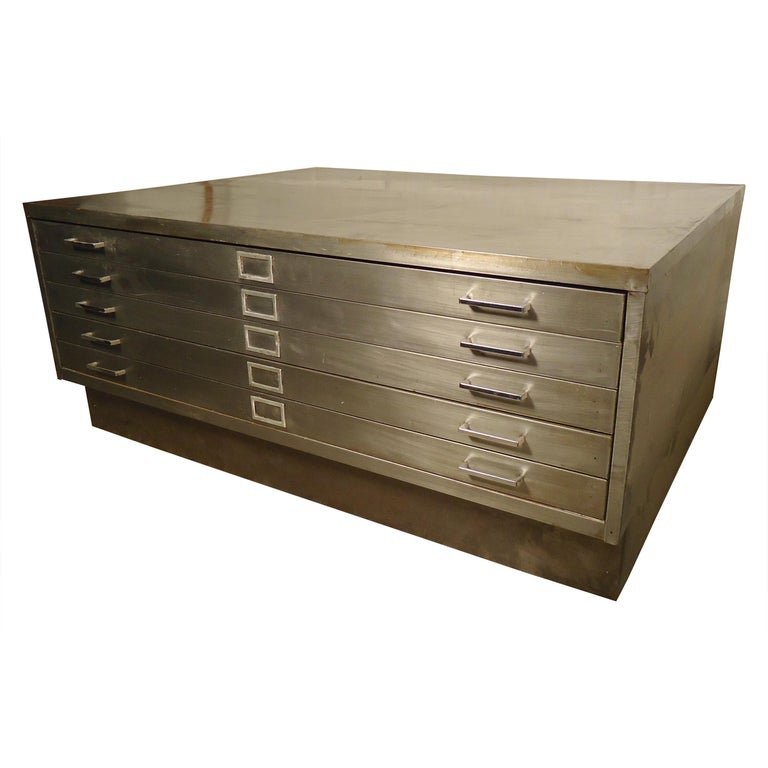 Flat File Coffee Table For Sale