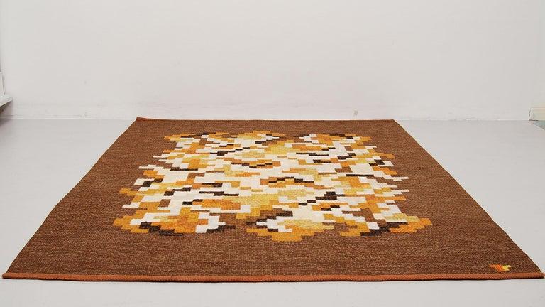 Scandinavian Modern Flat-Weave Rölakan Carpet