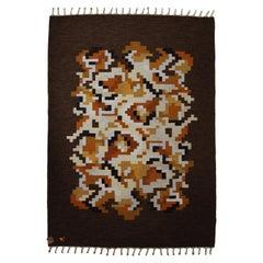 Flat-Weave Rölakan Korall Carpet by Erik Lundberg for Vävaregården Eringsboda