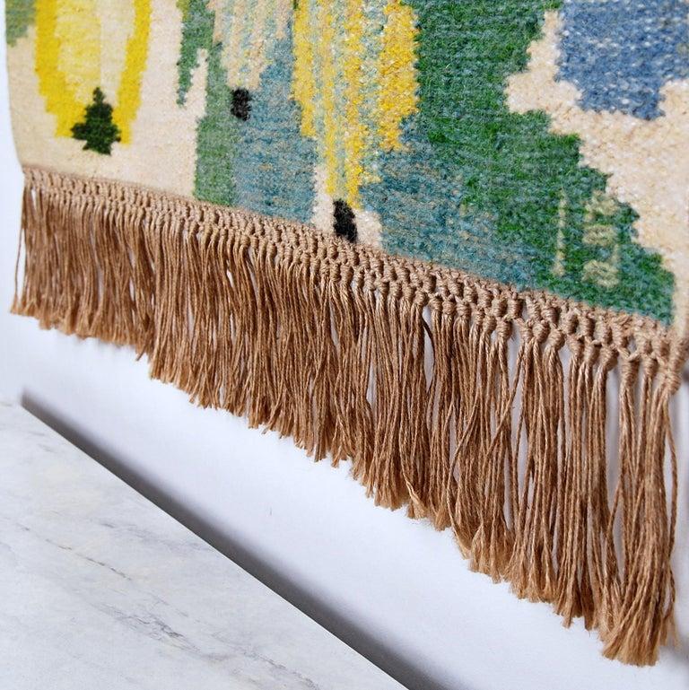 Scandinavian Modern Flat-Weave Rölakan Tapestry by Ingegerd Silow, Sweden For Sale