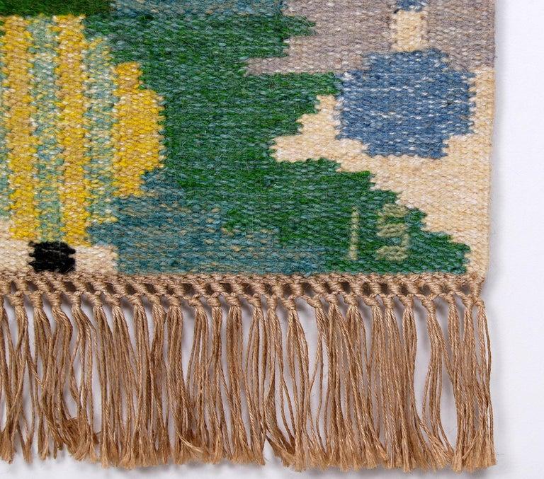 Swedish Flat-Weave Rölakan Tapestry by Ingegerd Silow, Sweden For Sale
