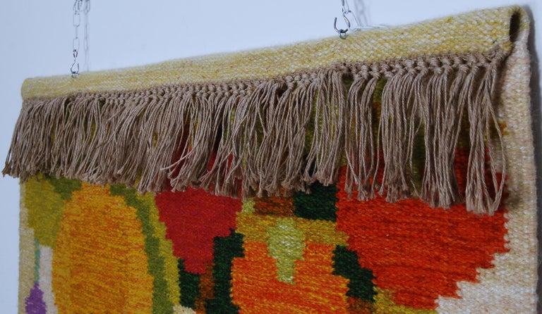 Flat-Weave Rölakan Tapestry by Ingegerd Silow, Sweden In Good Condition For Sale In Stockholm, SE