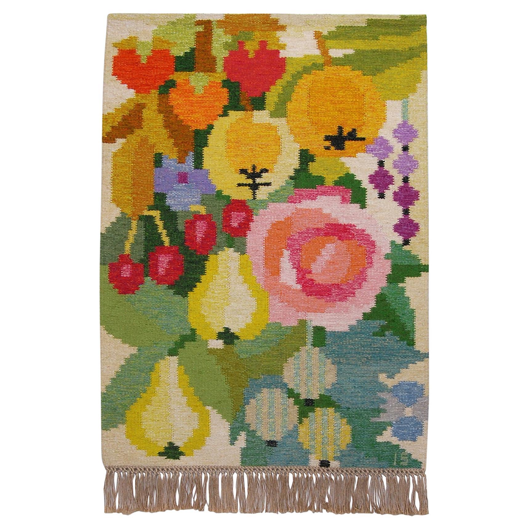 Flat-Weave Rölakan Tapestry by Ingegerd Silow, Sweden