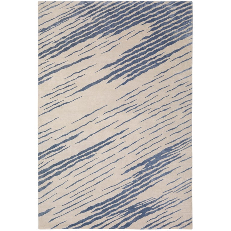 Flaunt Hand-Knotted 10x8 Rug in Wool and Silk by Kelly Wearstler For Sale