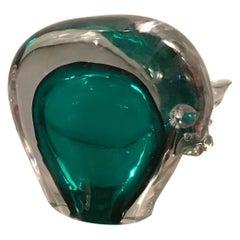 Flavio Poli Bull Murano Glass, 1950, Italy