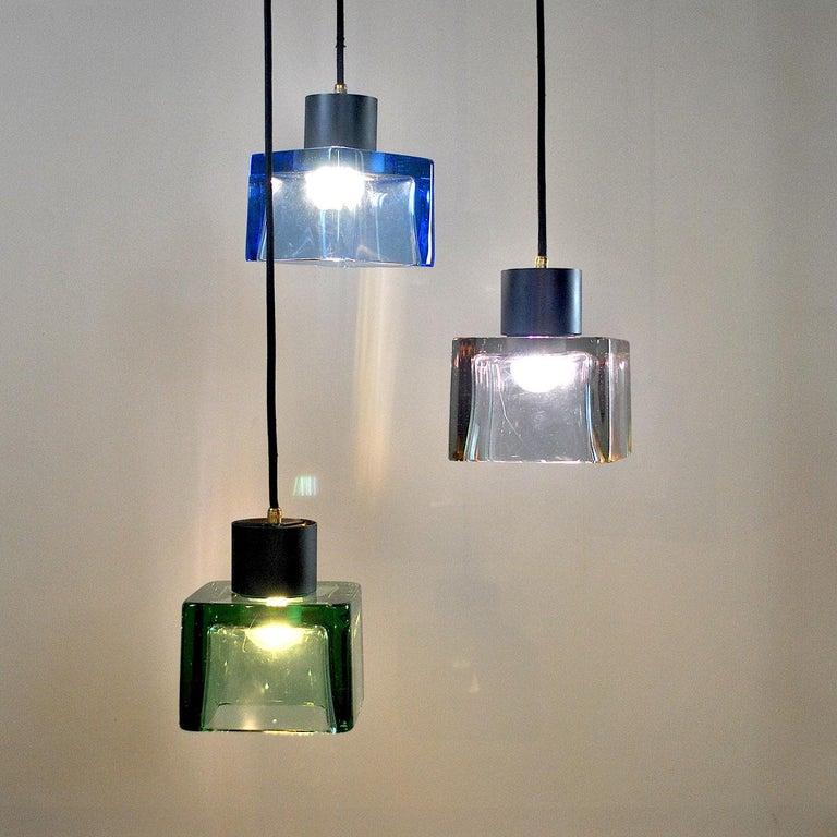 Mid-Century Modern Flavio Poli for Seguso a 1960s Suspension of Three Murano Elements For Sale
