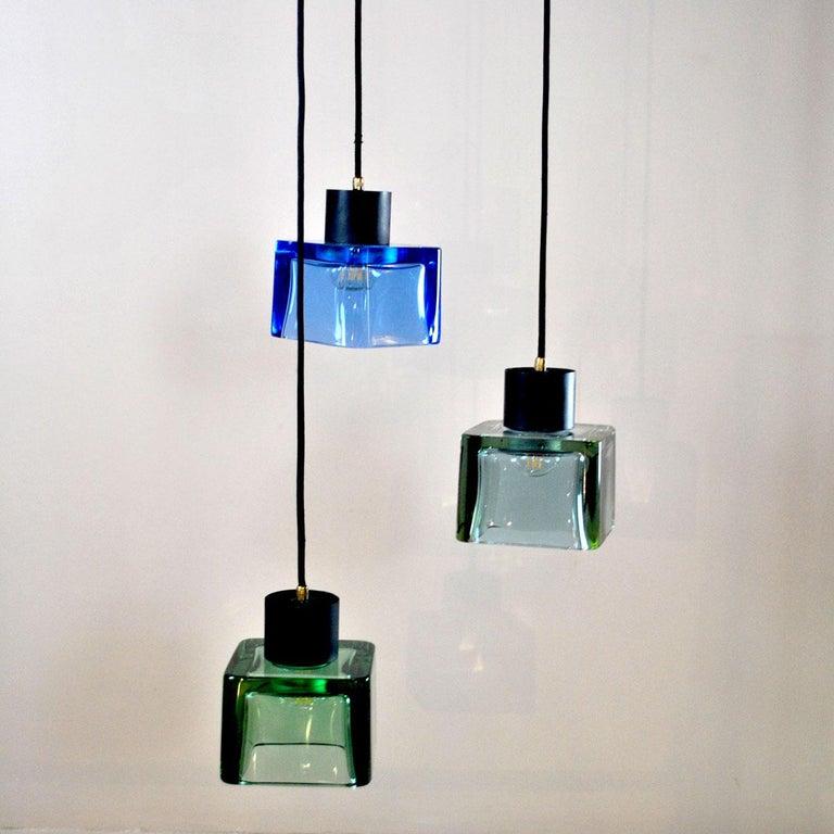 Flavio Poli for Seguso a 1960s Suspension of Three Murano Elements For Sale 2