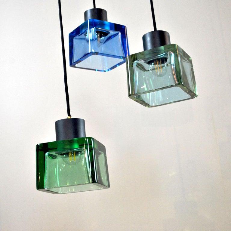 Flavio Poli for Seguso a 1960s Suspension of Three Murano Elements For Sale 3