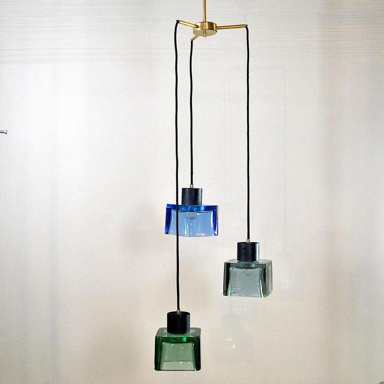 Flavio Poli for Seguso a 1960s Suspension of Three Murano Elements For Sale 5