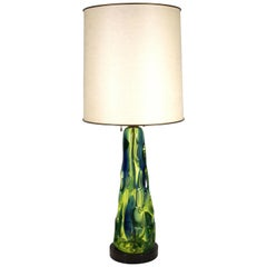 Flavio Poli For Seguso Mid-Century Modern Italian Murano Glass Table Lamp